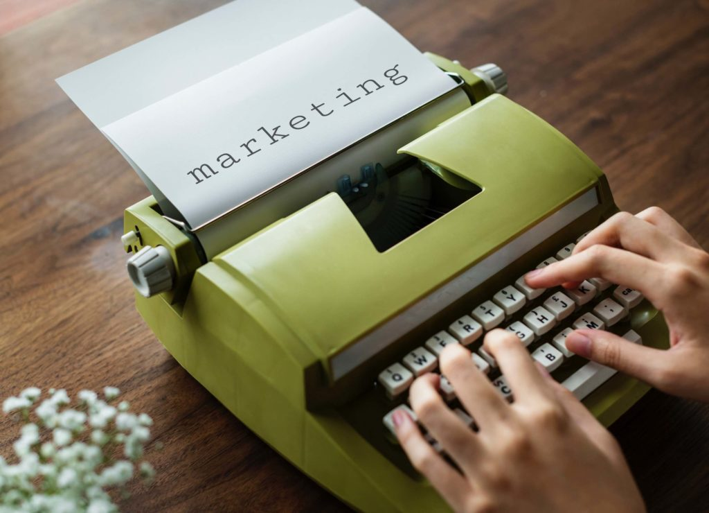 Typewriter Typing Marketing