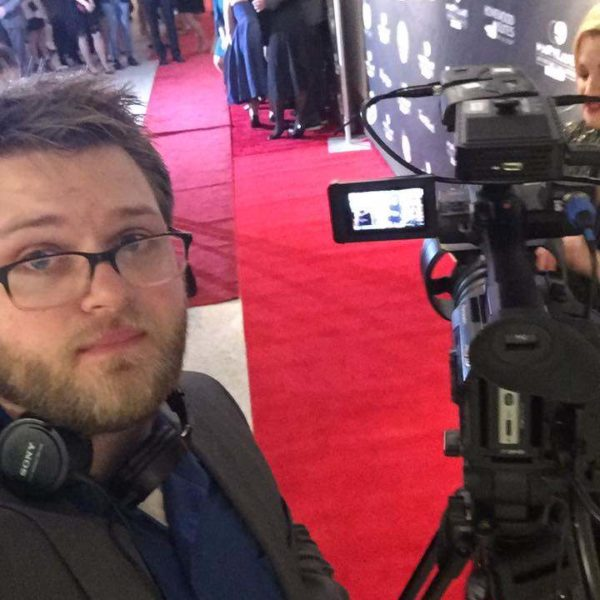 Allen with Camera at Red Carpet