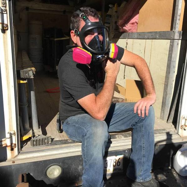 Anthony Posing with Mask