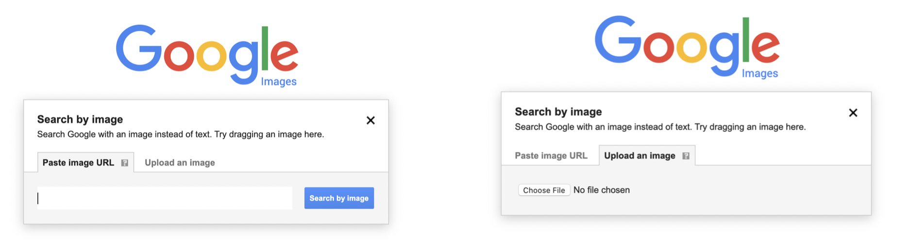 Google Image Search Options