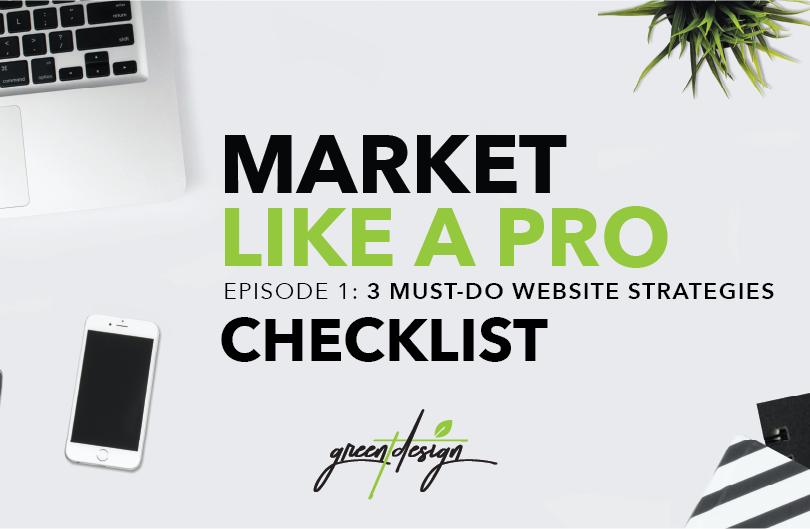 Market Like a Pro Checklist Episode 1